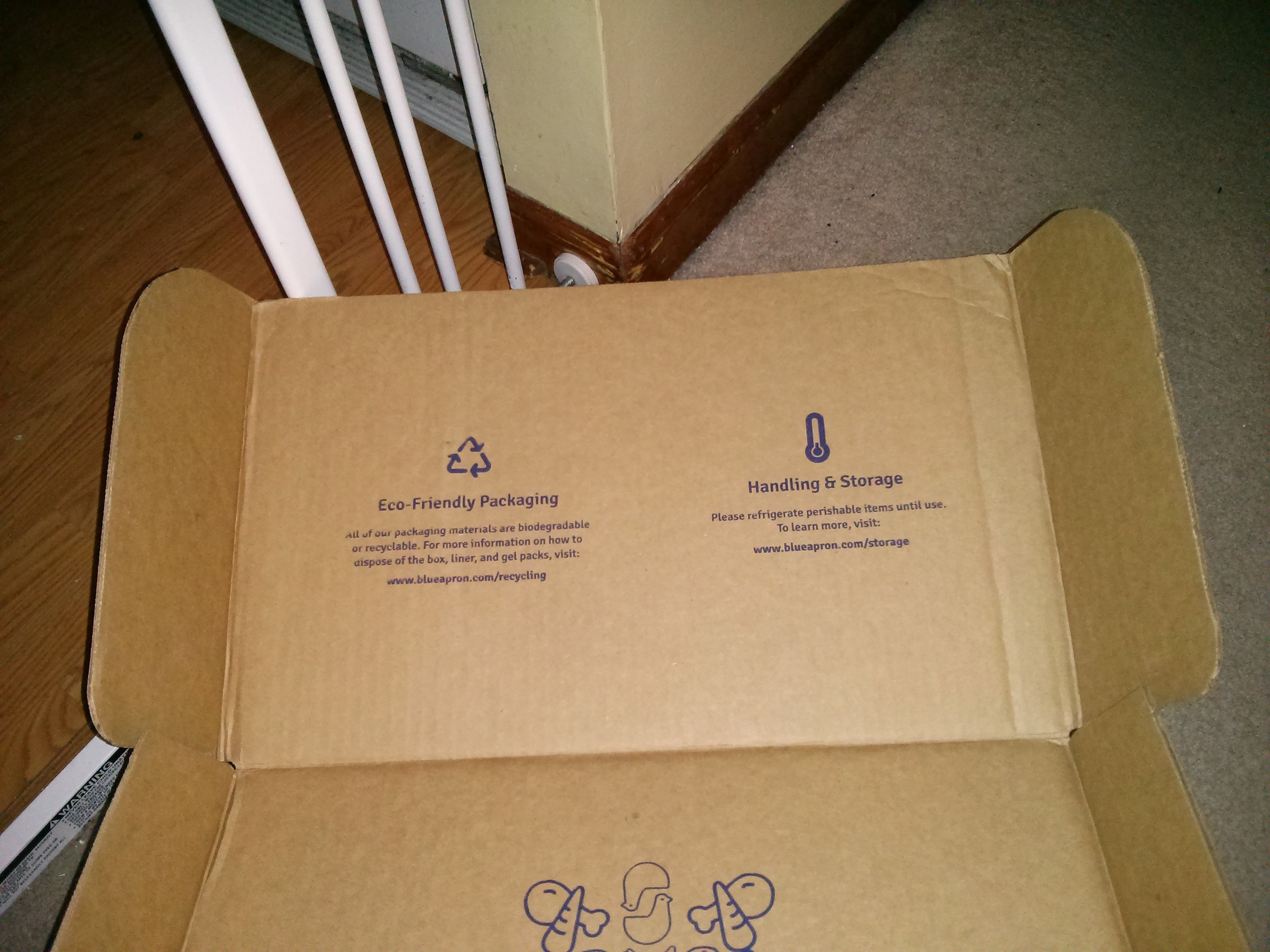 Blue apron packaging waste - Blue Apron Box