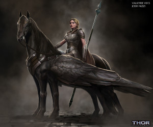 Original Concept Art of Valkyrie for Thor: The Dark World