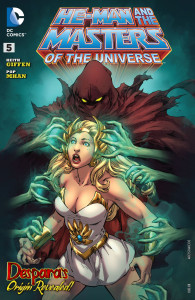 She-Ra glimpse in He-Man and the Masters of the Universe # 5