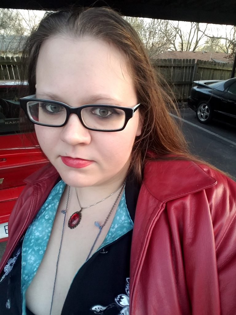 Selfie of the author (Melissa) before the Avengers: Infinity War premiere back in April, dressed as Age of Ultron Scarlet Witch.