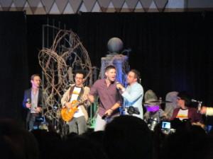 Jensen Singing with Rob Benedict